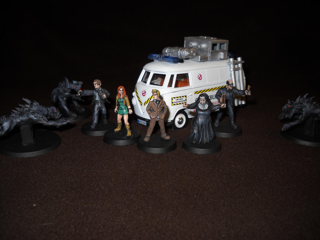 Ghostbusters 28mm miniature RPG support characters by Prowlcop