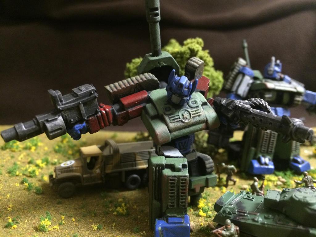 Optimus Prime US Sherman tank WW2 by Prowlcop