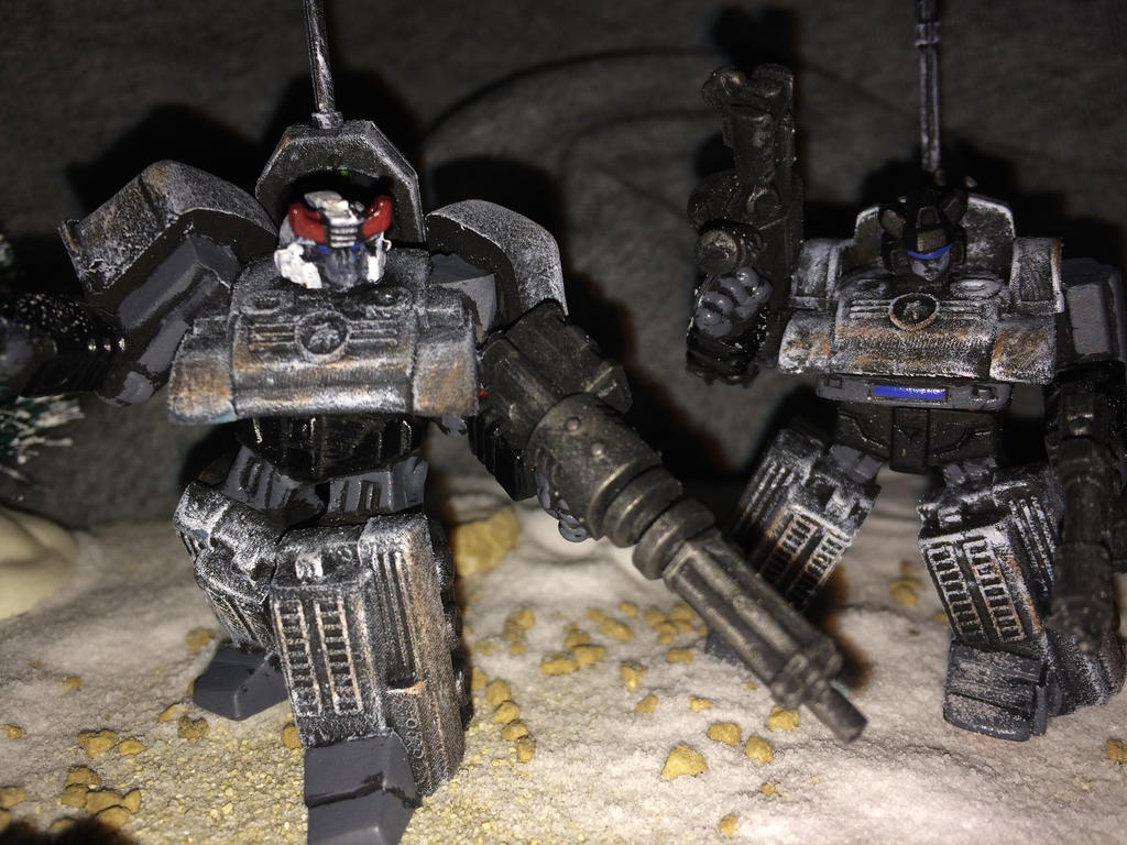 Prowl and Jazz alternate universe WW2 miniature by Prowlcop