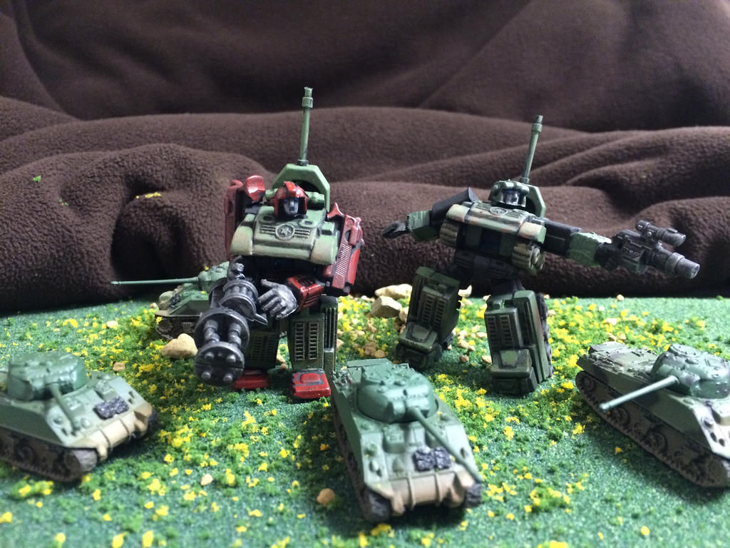 Transformers World War 2 diorama miniature by Prowlcop