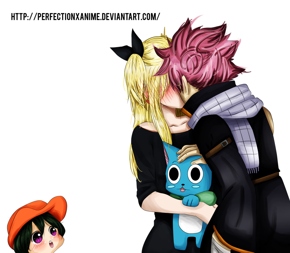 Fairy tail natsu happy asuka and lucy render by - Fairy tail happy and natsu ...