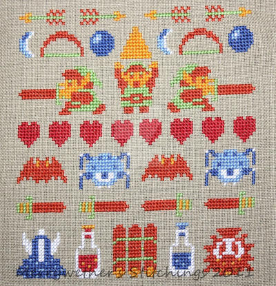 NES Zelda Sampler by merrywether