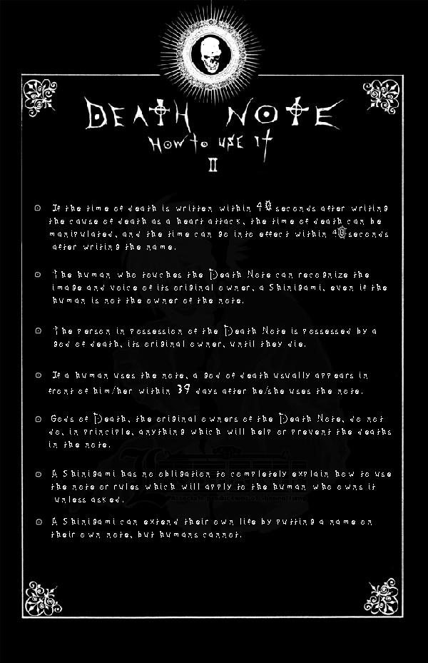 Page 2: DEATH NOTE by Leustante on DeviantArt