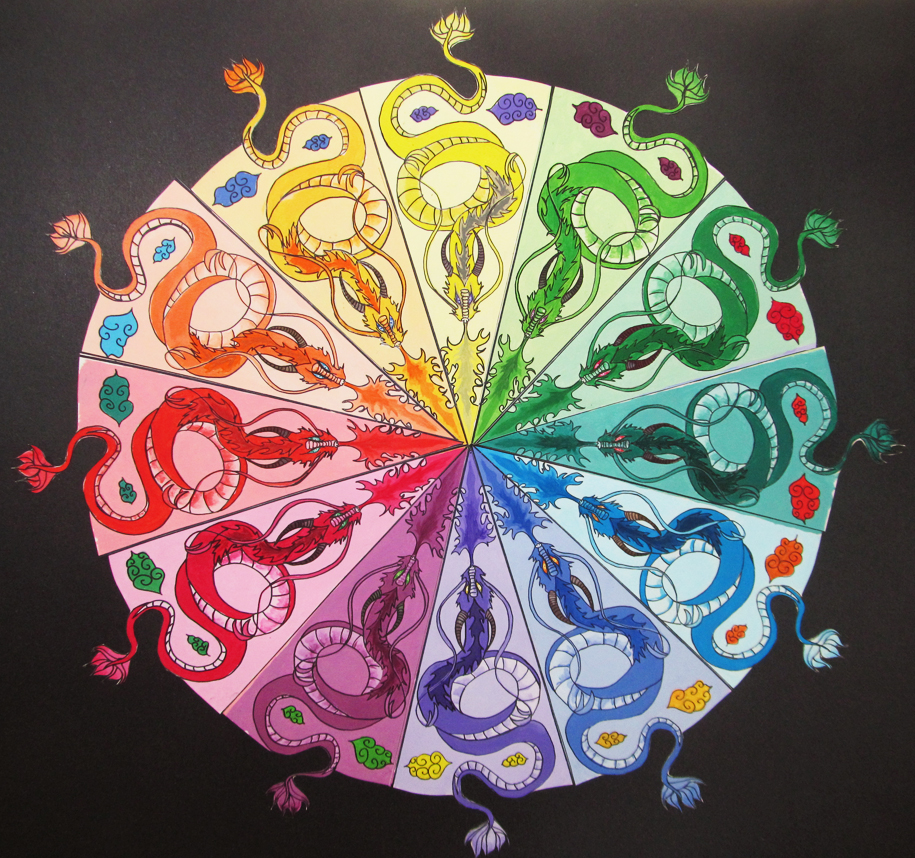 Dragon Color Wheel WIP By Leustante