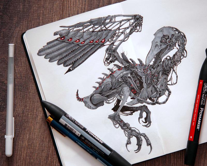 mechanical_raven_by_saikoxix-dbvlvki