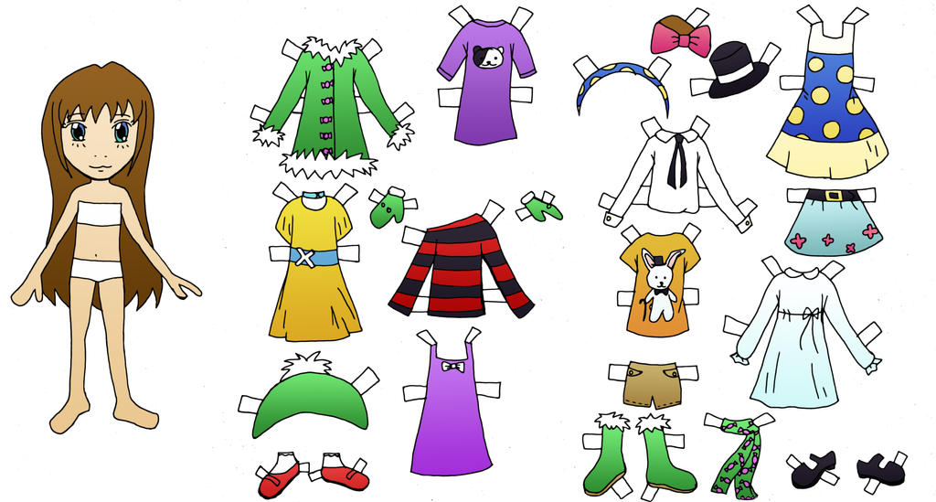 Paper Dolls Printable Printable Paper Doll by