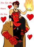 Hellboy And Liz by Comicgirl20