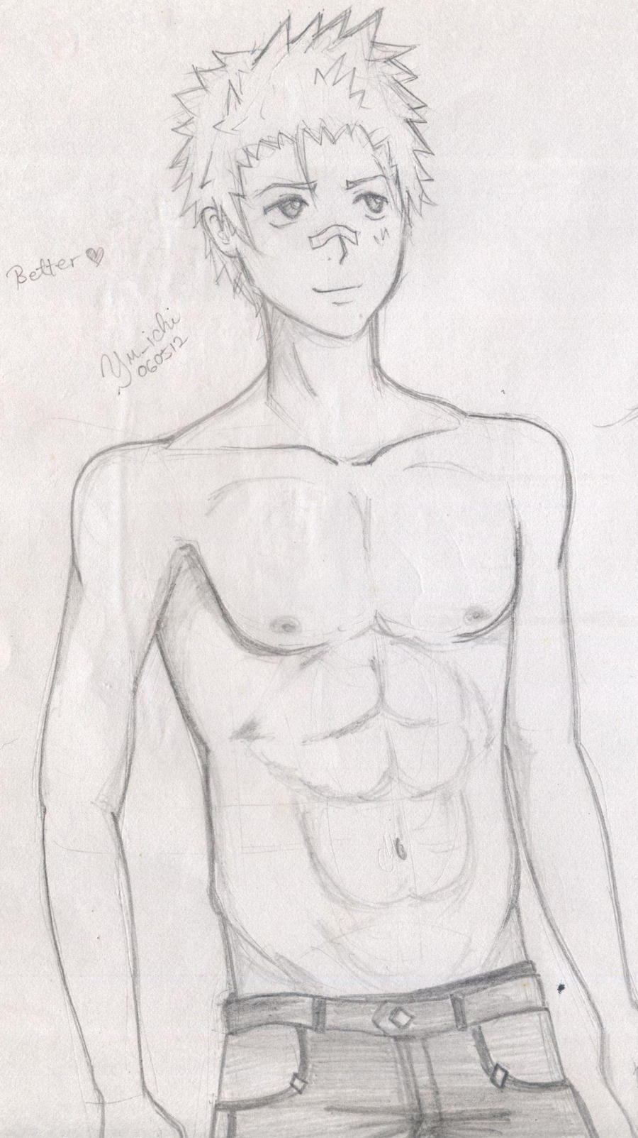 my topless Ryohei by TsukiYuIchi