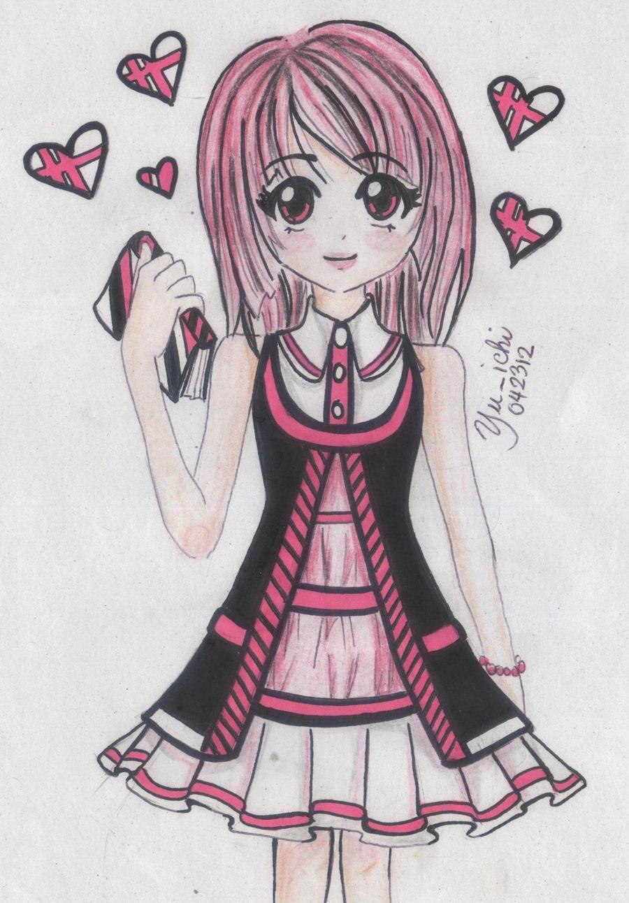 pink and black by TsukiYuIchi