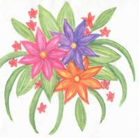 3 random flowers by TsukiYuIchi