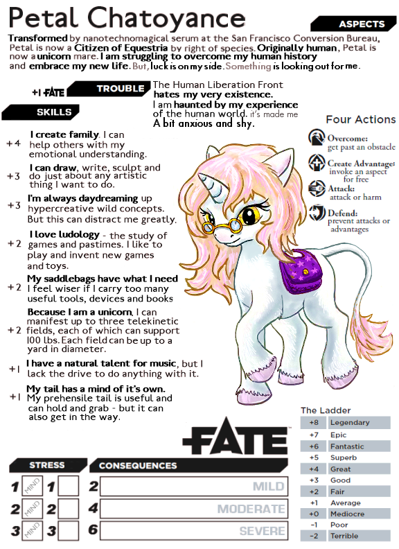 Petal Chatoyance Fate Core by Aealacreatrananda