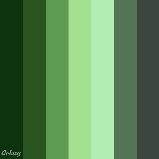 The Gallery For Shades Of Green Color Chart
