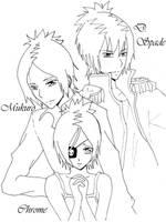 Mukuro, Chrome and D. Spade by xxDevilsAngel28xx