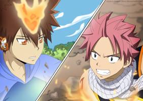 Tsuna vs. Natsu by xxDevilsAngel28xx