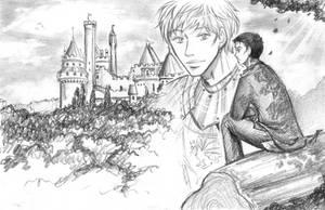 Merlin thinking of Arthur by Ta-moe