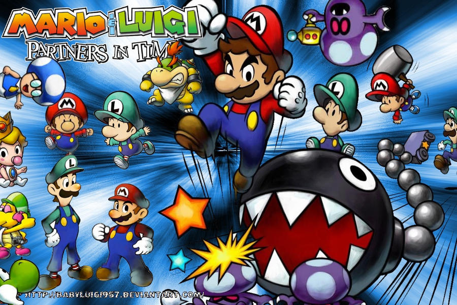 Mario And Luigi Partners In Time Huge Wallpaper By