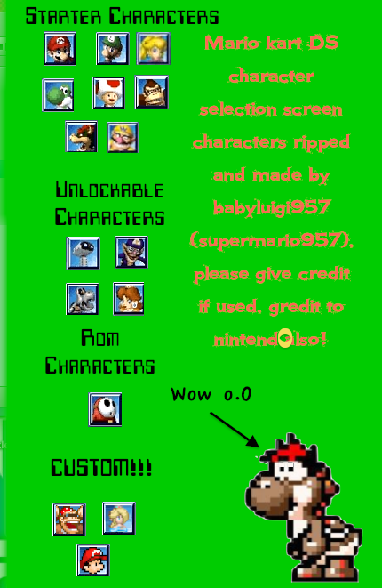 Mario Kart Ds Character Selection Screen Rips By Babyluigi957 On