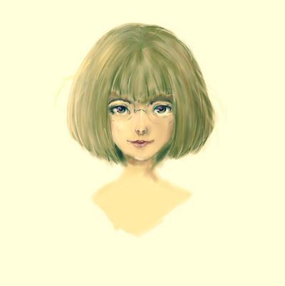 Digital portrait painting by Ktoran
