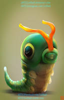 pokemon project 010 Caterpie byLo0bo0 by Lo0bo0
