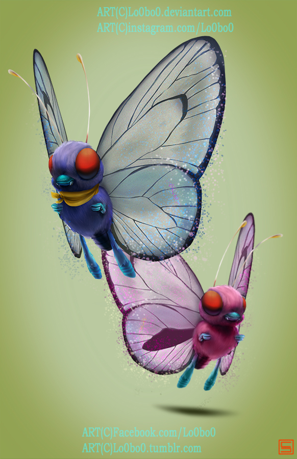 pokemon project 012 Butterfree AshSpecial byLo0bo0 by Lo0bo0