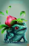 pokemon project 002 Ivysaur by Lo0bo0