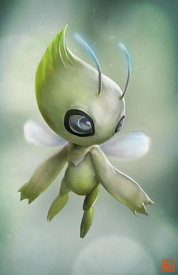 Realistic Pokemon 251 Celebi by Lo0bo0