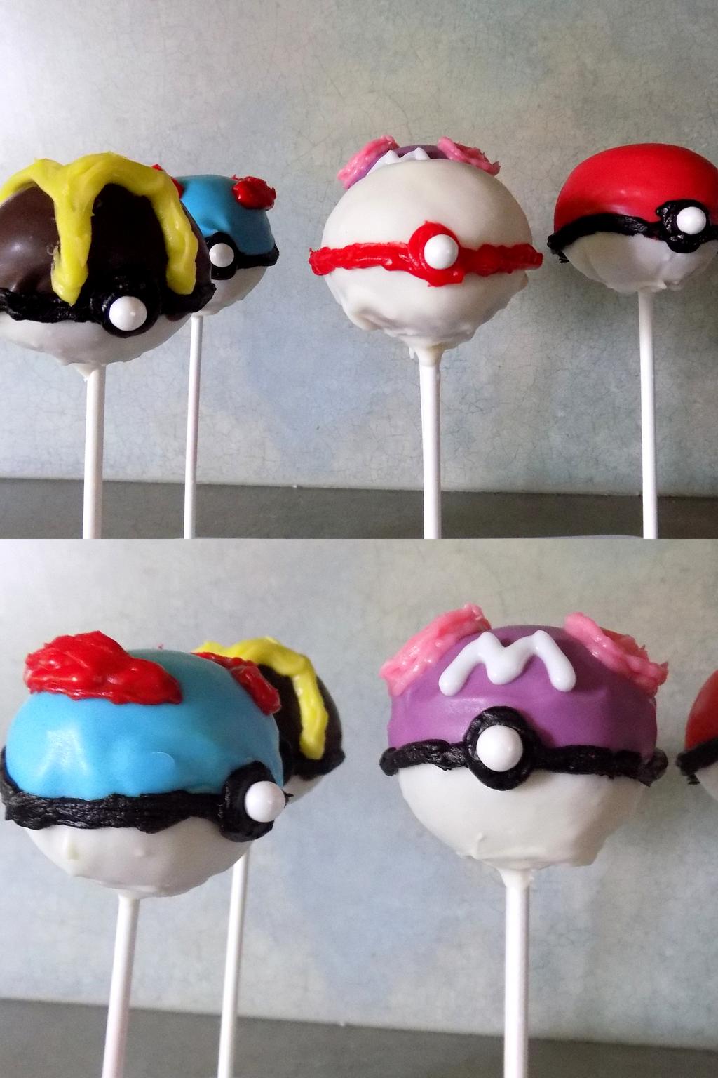 pokeball cake pops by espevoirvee on deviantart
