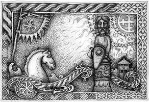 Horse Of Slavic Gods by kramkraka