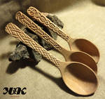 Cherry wood spoons IV