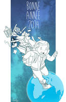 Happy New Year 2014 by Bisc-chan