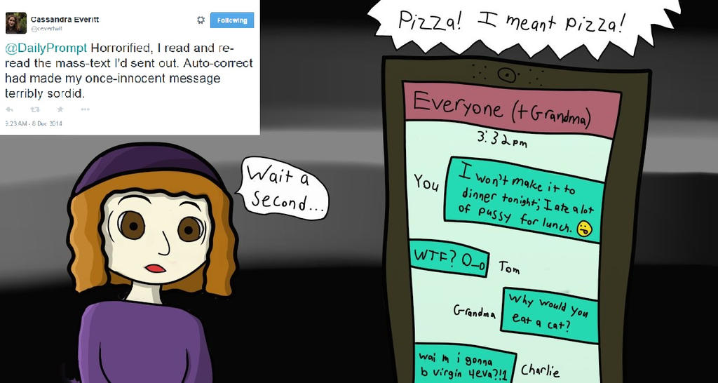 TwitterToon: PizzautoCorrect by BIUmphress