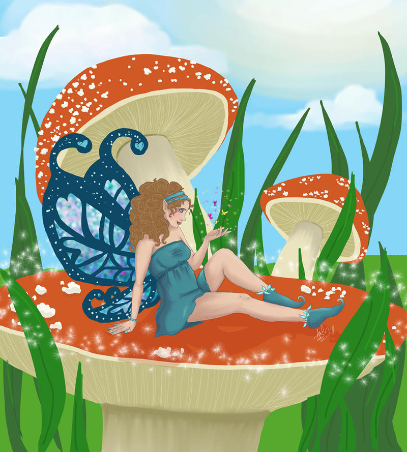 Mushroom Fairy by aprilmdesigns