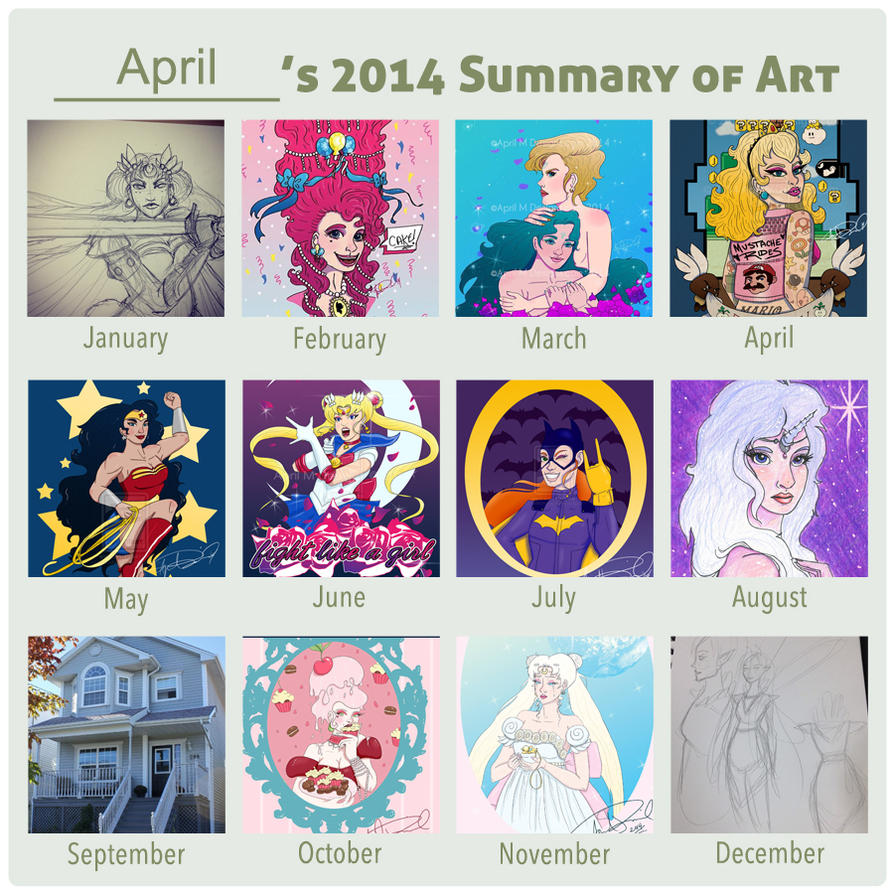 2014 Art Summary by aprilmdesigns