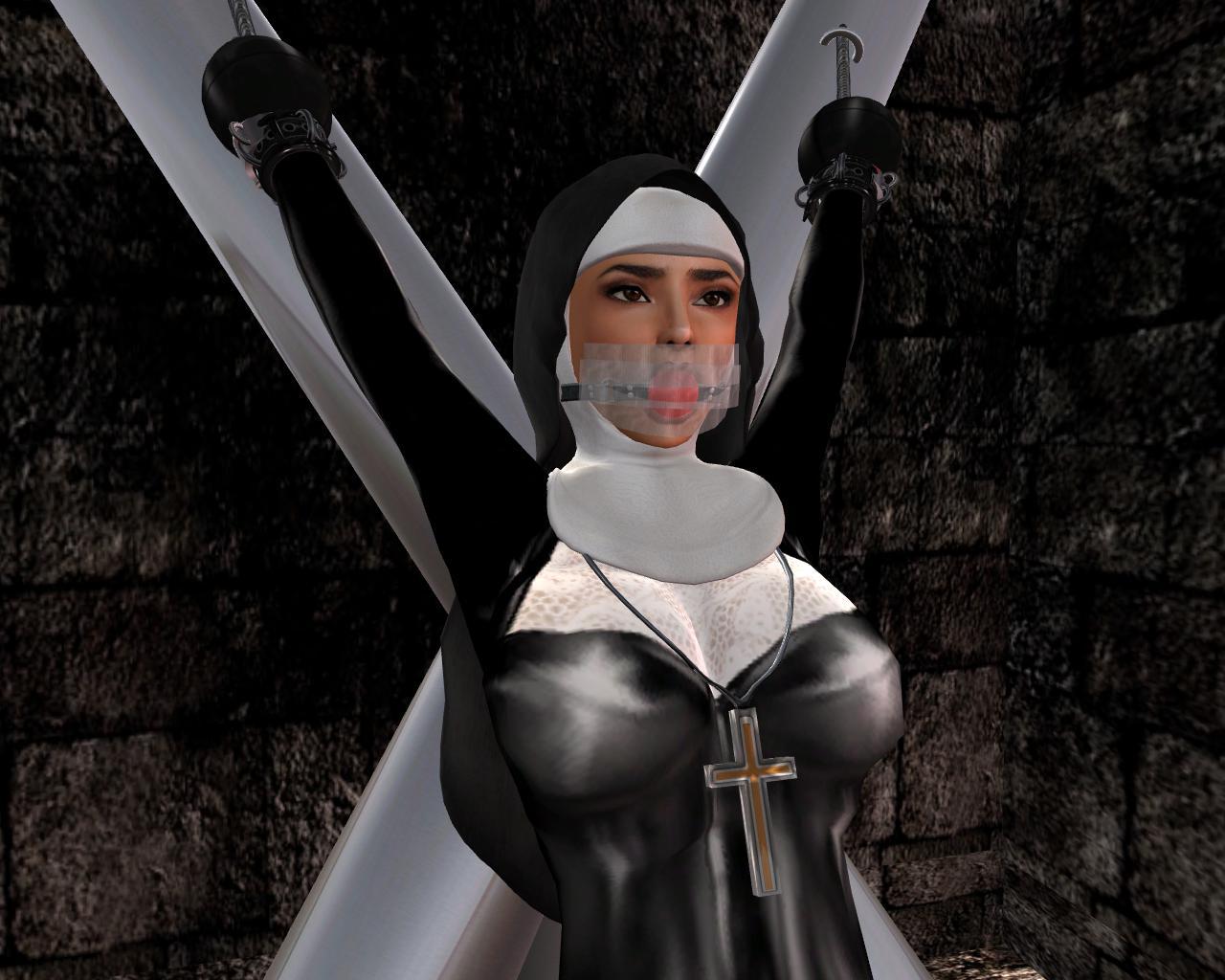 Bondage in nun