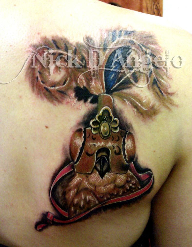 Warrior Owl Tattoo by