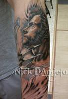 Wolverine Hugh Jackman Tattoo by NickDAngeloTattoos