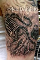 3D Music Tattoo by NickDAngeloTattoos