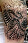 3D Music Tattoo