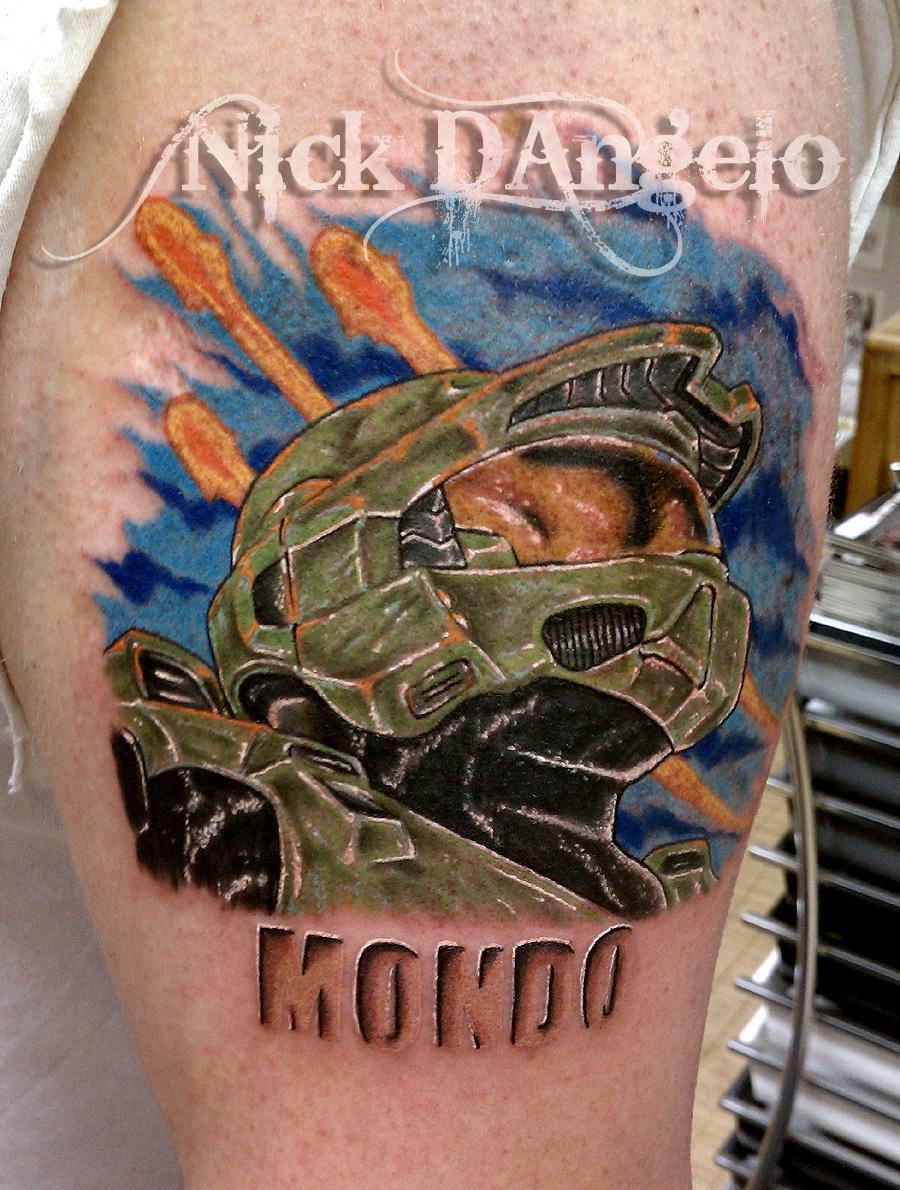 Master Chief Halo Tattoo By Nickdangelotattoos On Deviantart