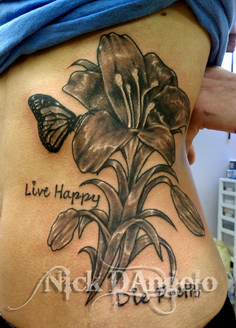 Flower tattoo on side by nickdangelotattoos on deviantart for Flower side tattoo