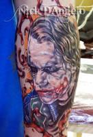 Heath Ledger Joker Tattoo by NickDAngeloTattoos