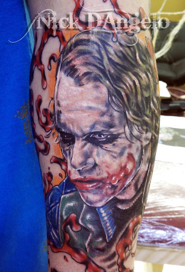 Joker tattoo heath ledger