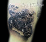 3D Motorcycle Tattoo by NickDAngeloTattoos