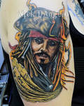 Jack Sparrow Tattoo by NickDAngeloTattoos