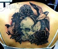 Skulls and Sparrows Tattoo by NickDAngeloTattoos