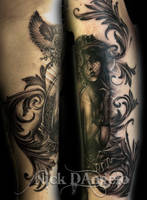 Victorian Girl Reproduction Tattoo by NickDAngeloTattoos