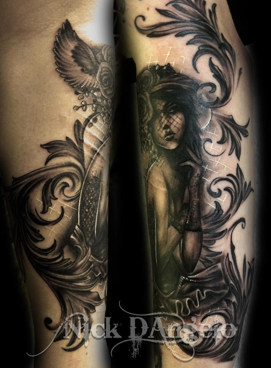 Victorian Girl Tattoos Victorian Girl