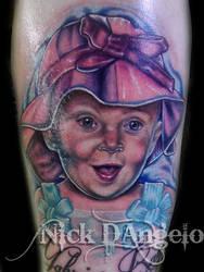Daughter Portrait by NickDAngeloTattoos