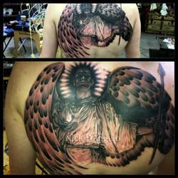 Watcher In The Night Tattoo by NickDAngeloTattoos