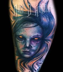 Evil Girl Tattoo by NickDAngeloTattoos